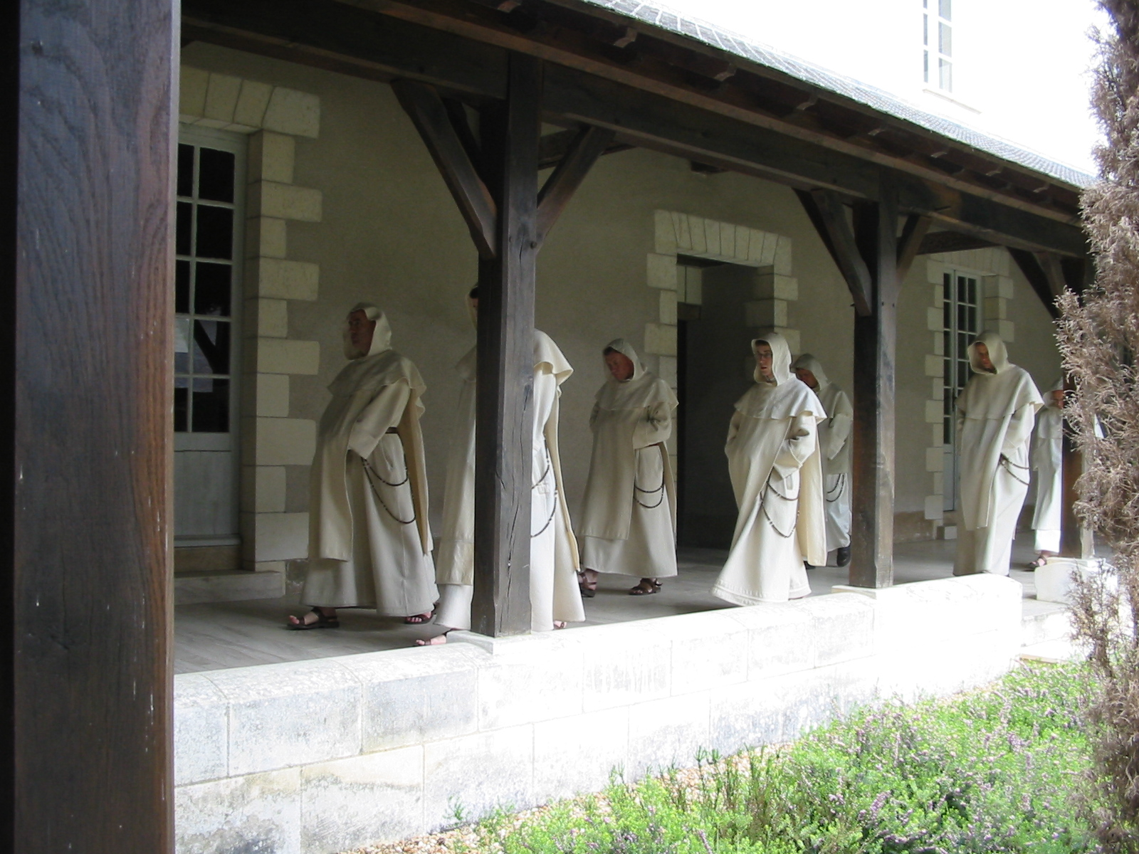 Procession in the cloister