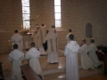 The boys of the school serve a solemn Mass