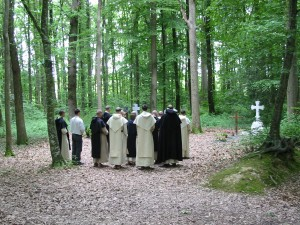 The community at the cemetery