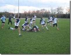 Our boys' school rugby team on the pitch.