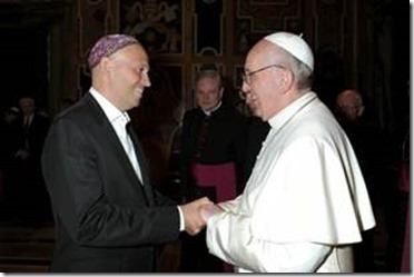 "Rabbi Sergio Bergman Argentine claims to have found in the Cardinal Bergoglio his ""rabbi"" because he always has ""listened and advised about his vocation"" and helped ""find the Jewish roots of Catholicism"" during his ministry in Argentina."