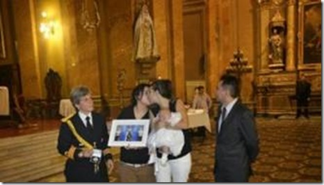 "The grotesque spectacle of a lesbian duo desecrating the cathedral of Córdoba, with the portrait of the godmother of ""their"" child, the Argentine president, Cristina Fernández de Kirchner, represented by a uniformed aide; the farce was performed with the consent of the local bishop, Mgr. Carlos Ñáñez."